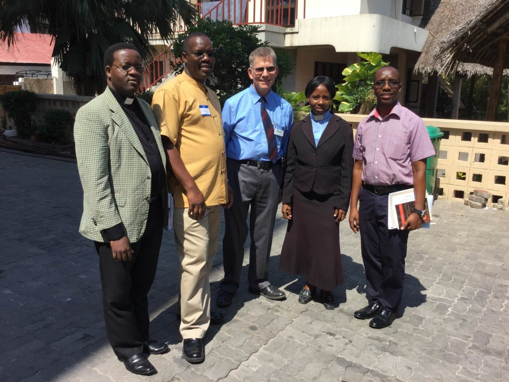 Frank and Wayne with Rev. Philip, Eliya Musa and Wife of Bishop of Dar.