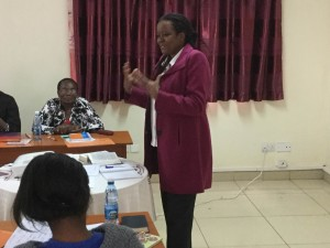 Beatrice F.W. Ngatia facilitates a workshop.