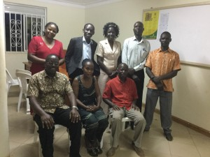 Empower/Uganda recently named Joyce Ouko (standing, third from right) as its new president.