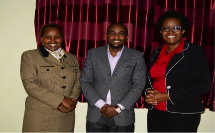Left to Right: New Man New Woman New Life Facilitators Purity Njagi and Joshua Gitau with Beatrice Ngatia (SPILL & LDC Coordinator)