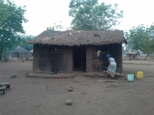Typical house in rural Malawi