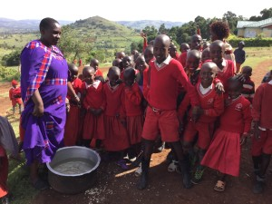 Masai school children in Kilgoris.